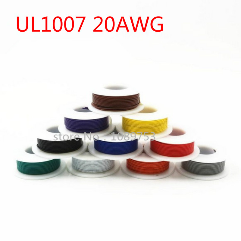 10 Meters <font><b>UL1007</b></font> Electronic Wire <font><b>20awg</b></font> 1.8mm PVC Electronic Wire Electronic Cable UL Certification #20 image