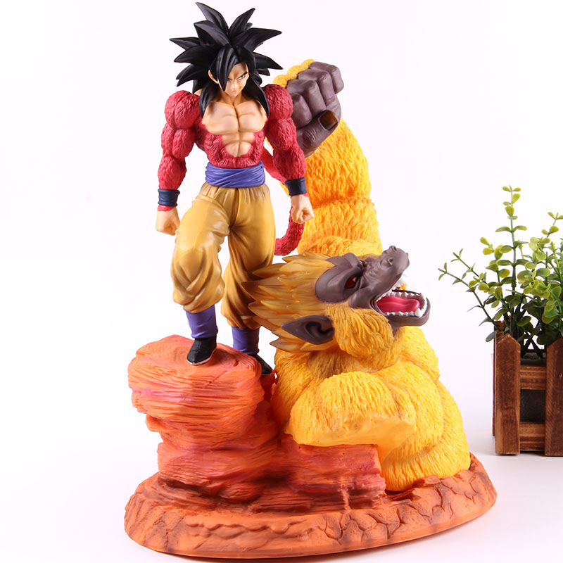 Anime Dragon Ball Z Super Saiyan 4 Figure Son Goku GK Statue Great Apes Gold Goku Action Figure PVC Model Toy Collection Gifts