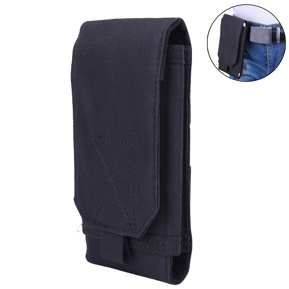 1000D Tactical Phone Bag Moll Cellphone Pouch Army Belt Pouch Waist Fanny Bag Military Phone Case For Hunting Shooting Camping