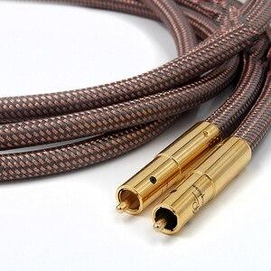 Image 5 - Hi Fi высококачественный кабель Accuphase 40 го юбилейного выпуска OCC из чистой меди с разъемом RCA, аудиокабель с золотым покрытием