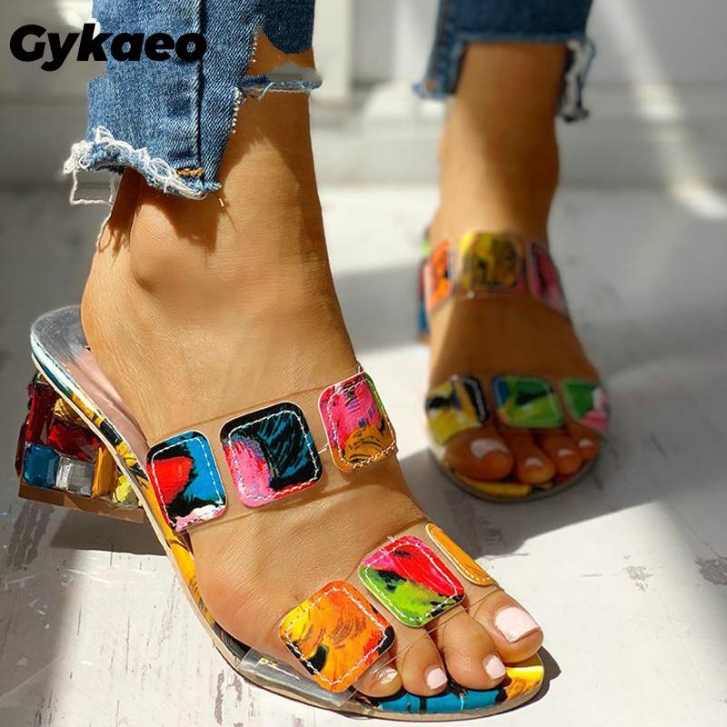 Woman Sandals 2020 Summer Large Size High Heels Women's Shoes Fashion Multicolors Women Slippers Flip Flops Zapatos De Mujer 41