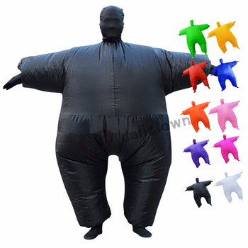 цена Fancy Halloween Inflatable Costume Adult Anime Cosplay Blow Up Funny Party Costume Suit Christmas Inflatable Costumes For Men онлайн в 2017 году