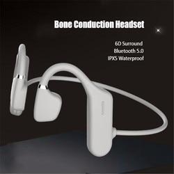 Surround Waterproof Bone Conduction Headphones With Microphone Earphones Phones Sport Head Set Gamer Wireless Headset Hand Free