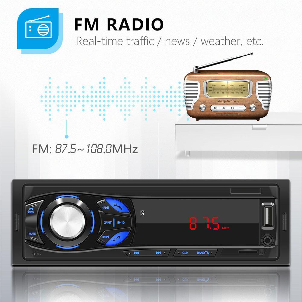 bluetooth autoradio carro estéreo rádio fm aux