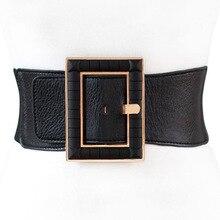New Fashion design PU wide Waist Belts For Women Dress causal Corset Be