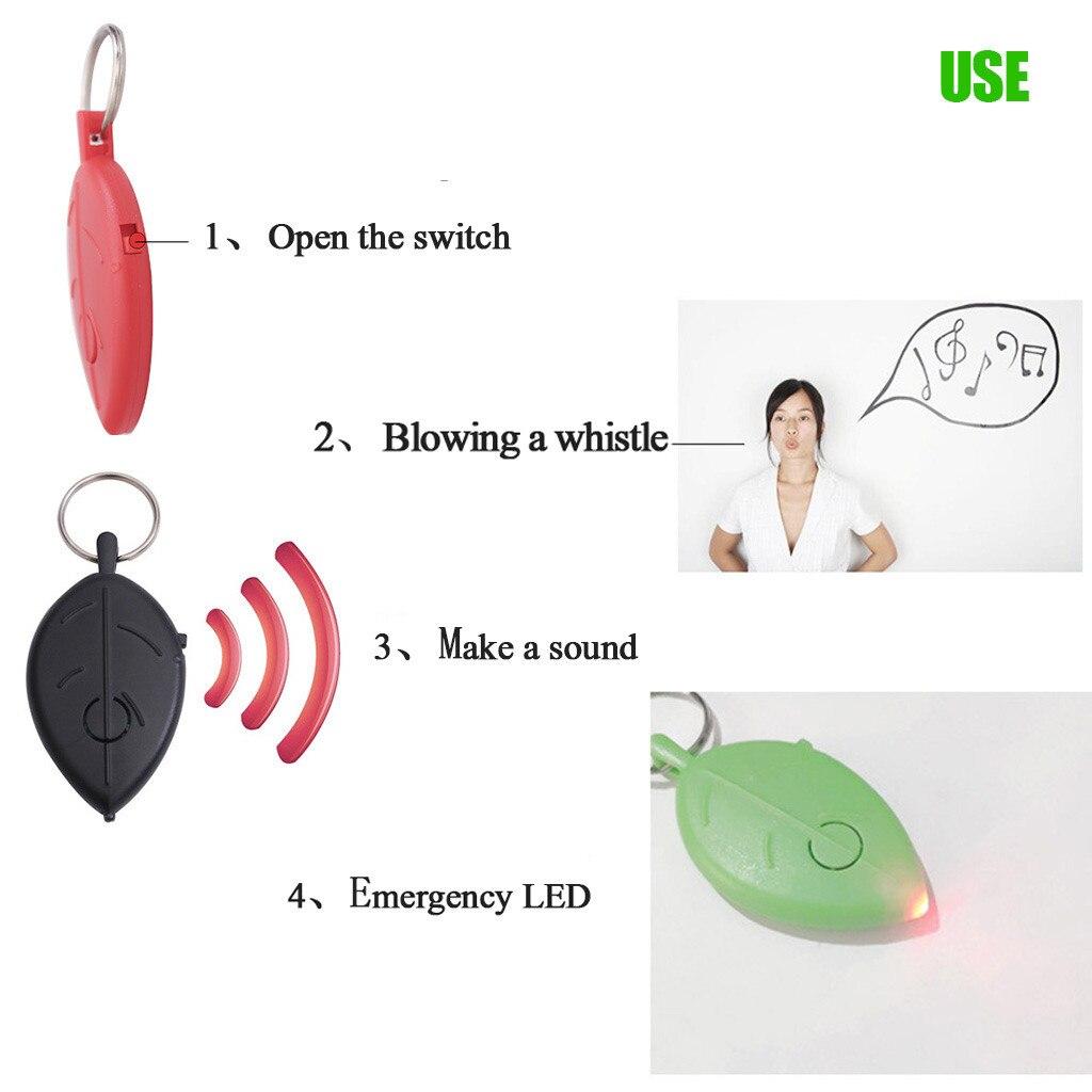Key anti lost device New Key Ring Voice Control Anti lost Device Leaf Mini Whistle Key