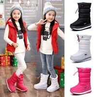 30 degree 2019 winter girls winter boots Waterproof girl boots kids boots Snow Boots warm Children shoes kids wellies boys