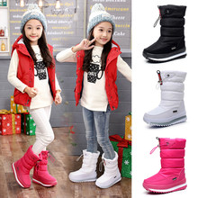 -30 degree 2019 winter girls winter boots Waterproof girl boots kids boots Snow Boots warm Children shoes kids wellies boys(China)