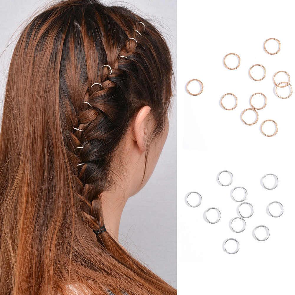 5-10Pc 女性のヒップホップ編組手クロスシェルスターリングヘアクリップ幾何学的な金属サークルヘアピンゴールドシルバーヘアアクセサリー