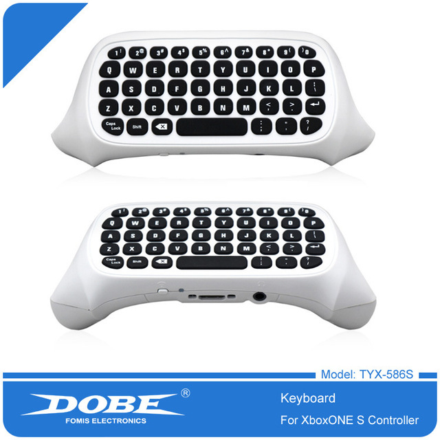 For Xbox One S Chatpad Mini Gaming Keyboard Wireless Chat Message KeyPad with Audio/Headset Jack for Xbox One Elite & Slim Gam 3