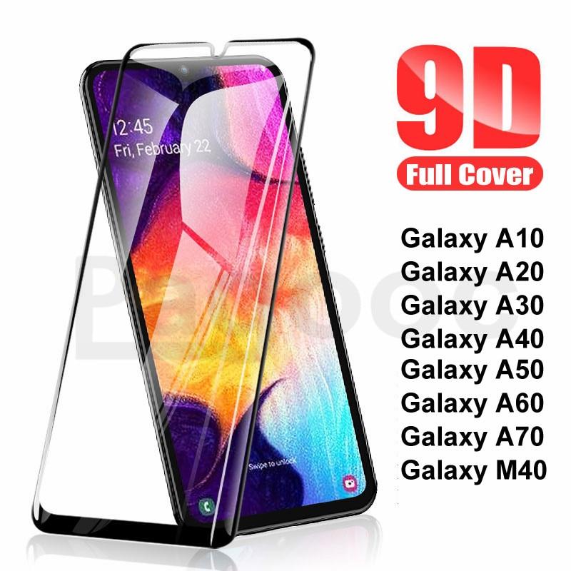 9D 9H Tempered Glass For Samsung Galaxy A10 A20 A30 A40 A50 A60 A70 A20E A40S M10 M20 M30 M40 Screen Protector Glass Safety Film