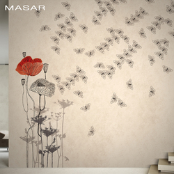 MASAR fresh flower butterfly custom murals warm and elegant children's wallpaper bedroom bedside background wall paper Butterfly
