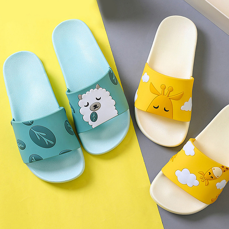 Summer Slides Cartoon Women Slippers Cute Animal Dog Sheep Home Slippers Slip on Slide Sandals Women Shoes Bothe Flip Flops
