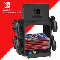 Soporte de torre de almacenamiento multifunción para Nintendo Switch, accesorios para consola Nintendo Switch