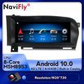 Автомобильный мультимедийный плеер 4G LTE, Android 10, 8 ядер, 4 + 64 ГБ, dvd, радио, GPS-навигация для Mercedes BENZ S W221, W216, CL 2005-2013, S-Class