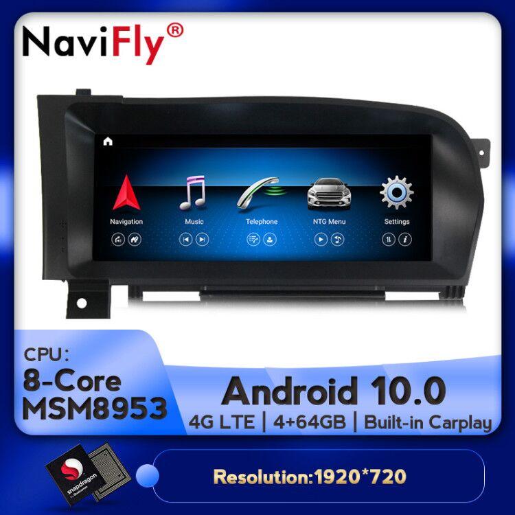 4G LTE Android 10 8Core 4 + 64G Car dvd radio multimedia Player navegación GPS para Mercedes BENZ S W221 W216 CL 2005-2013 S-clase
