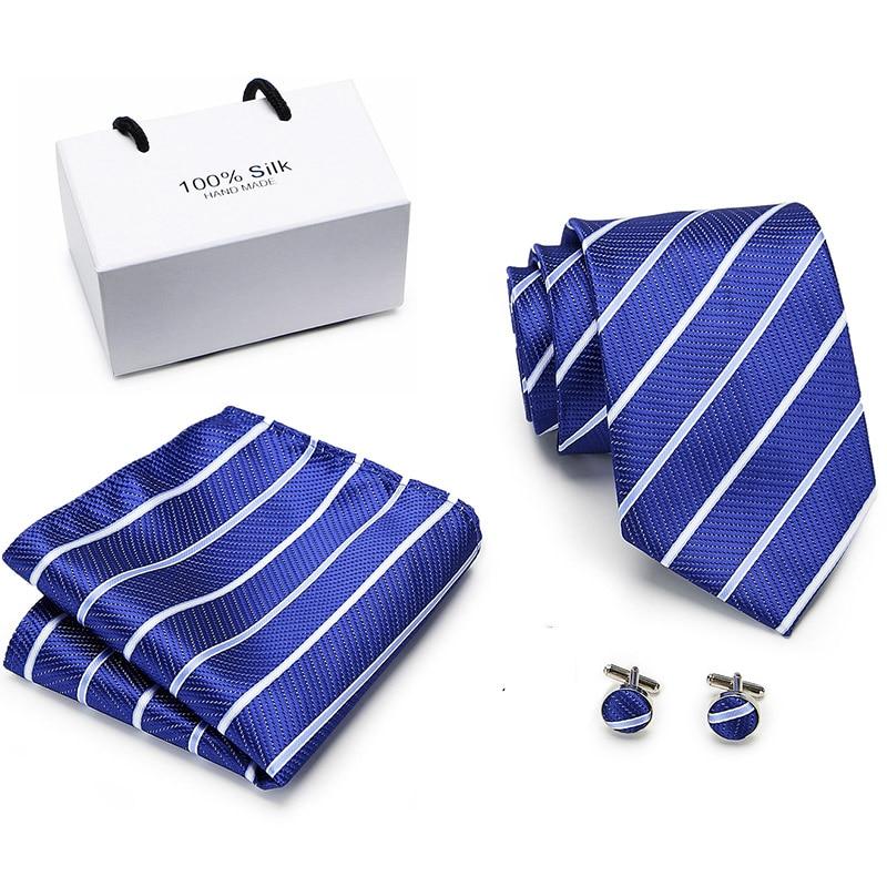 To Brand  Men Ties Set Extra Long Size 145cm*8cm Necktie Navy Blue Paisley 100% Silk Jacquard Woven Neck Tie Suit Wedding Party
