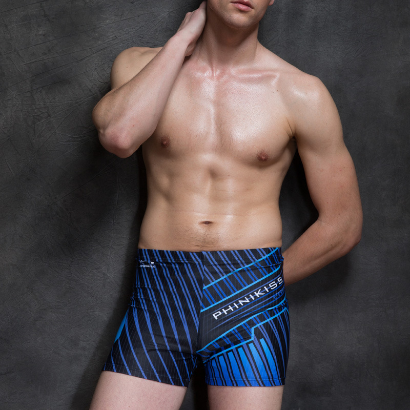 PHINIKISS 2019 MEN'S Swimming Trunks Summer New Style Simple Printed Fashion Comfortable Boxer Racing Beach Holiday Pants