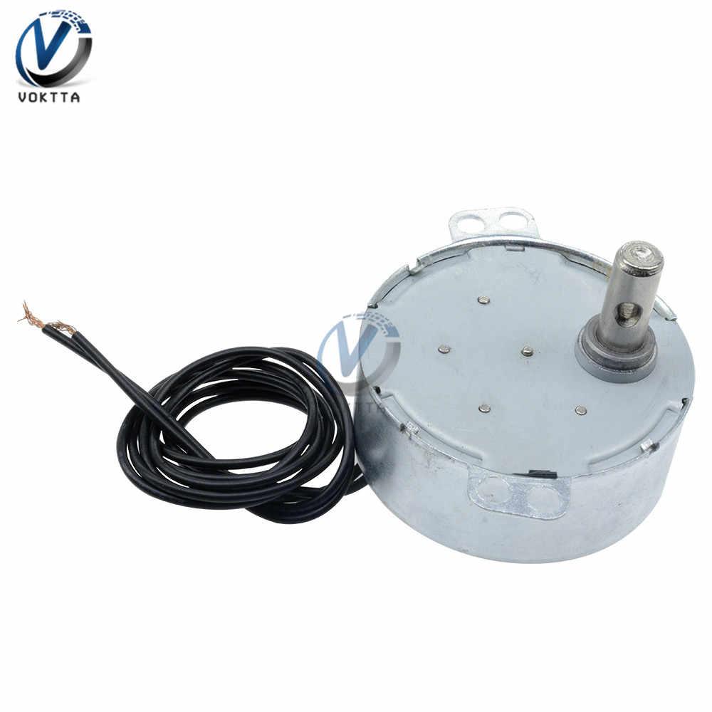 TYC-50 Motor Sinkron AC 12V AC 220V Motor Sinkron Magnet 5/6 Rpm CW CCW Microwave meja Putar
