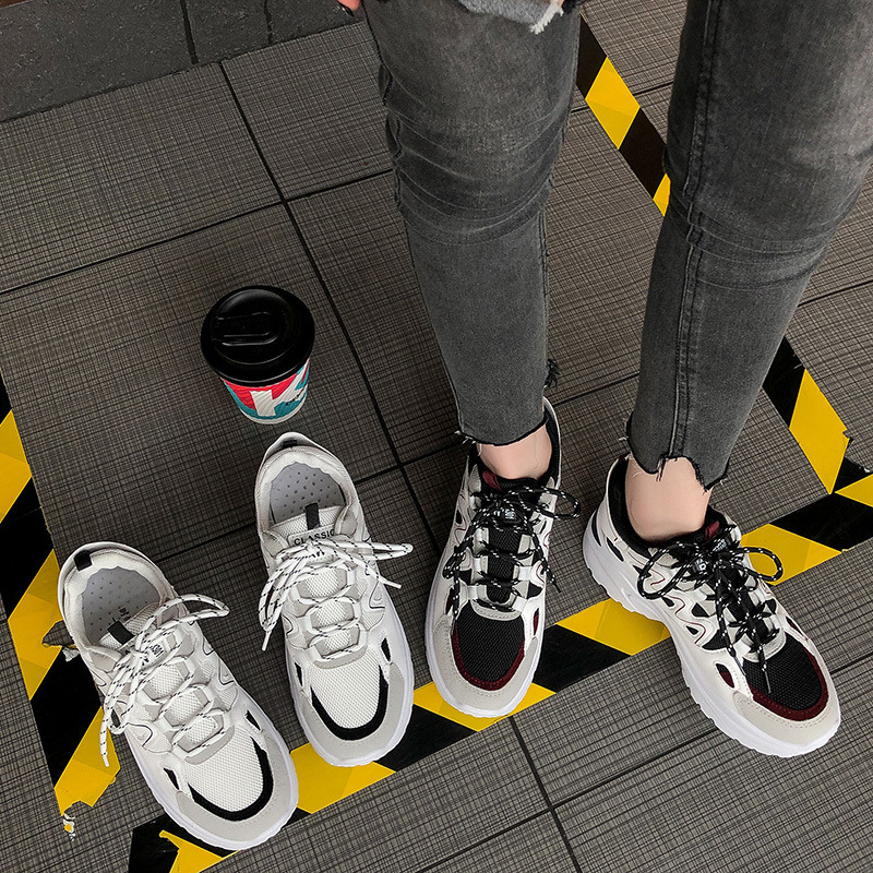Autumn Winter Sport Shoes Woman Leopard Print 5cm Platform Walking Sneakers Women Outdoor Running Shoes Height Increasing A513 56