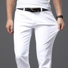 Brother Wangผู้ชายกางเกงยีนส์แฟชั่นสบายๆสไตล์Slim Fitกางเกงชายยี่ห้อขั้นสูงยืดกางเกง