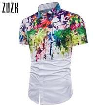 Прямая поставка мужская рубашка новая с коротким рукавом летняя