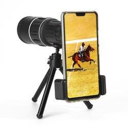 ET Dual Focus obiektyw telefonu ze statywem 16x52 monokularowy teleskop daleki zasięg teleskop dla Smartphone Survival sprzęt myśliwski