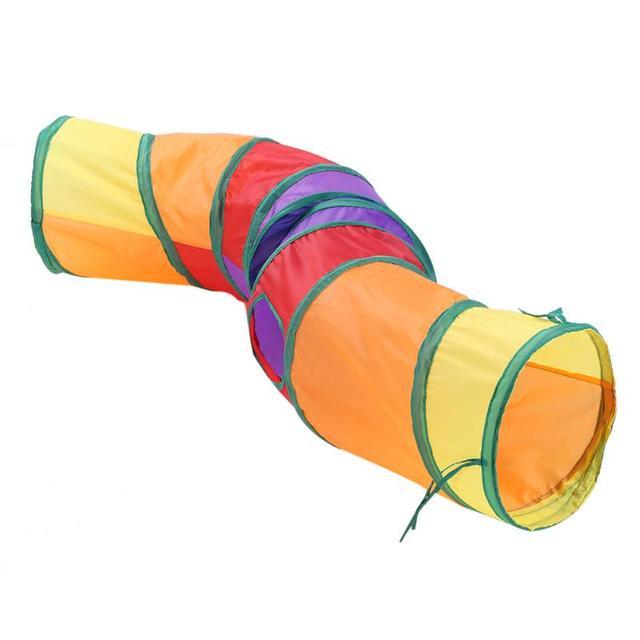 Rainbow Kitten Play Tunnel  3