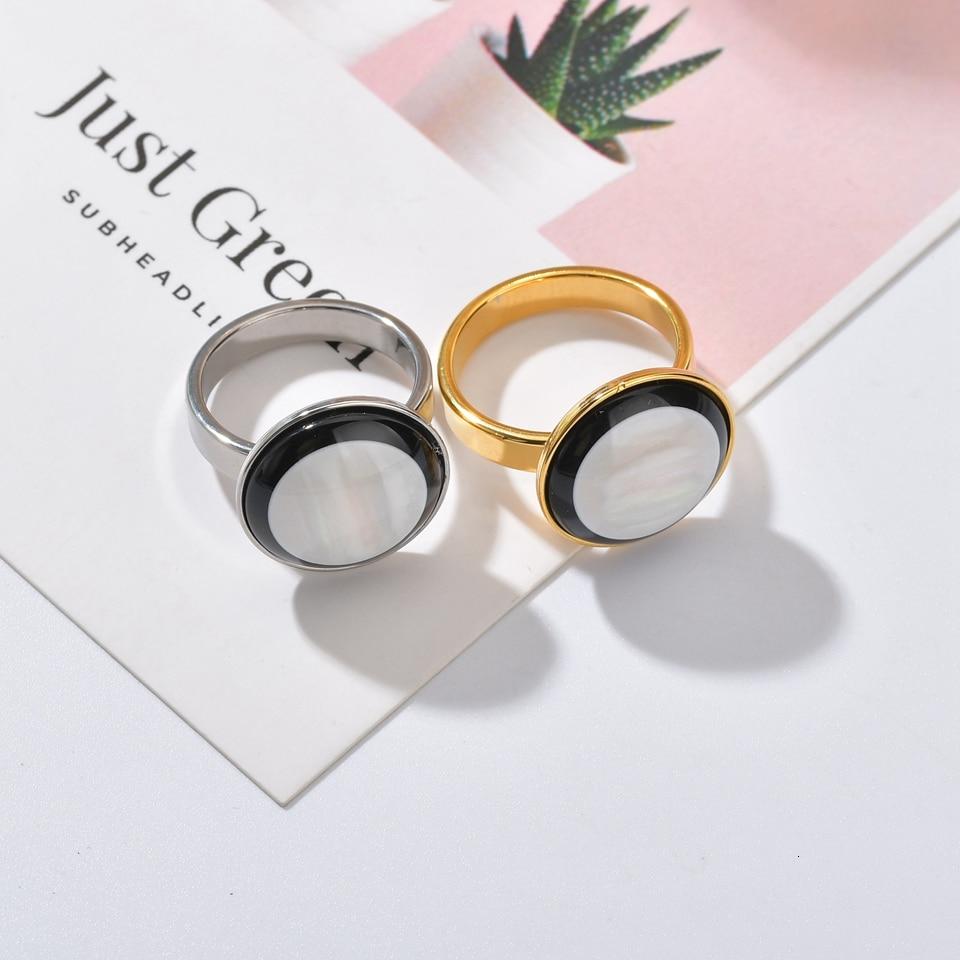 Trendy Rose Gold Žene od nehrđajućeg čelika, vjenčani prstenovi - Modni nakit - Foto 2