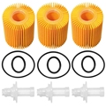 04152 YZZA1 Oil Filter Kit for Toyota Avalon Camry RAV4 Sienna for Lexus ES300H ES350 IS200T RX350 RX450H (Pack of 3)|Oil Filters| |  -
