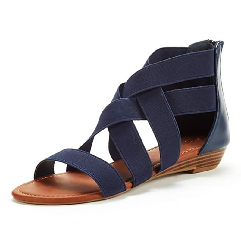 Women Sandals Fashion Summer shoes Hollow Comfortable Flat gladiator sandals Peep Toe Wedges Sandals Shoes 2020 New