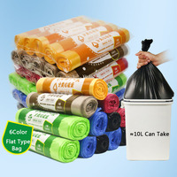 5Pack 4 Gallon Eco Biogradable Flat Type Small Trash Bags Garbage Bags  Wastebasket Can Liners for Home and Office Bins