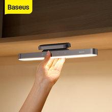 Baseus Nacht Licht Hängen Magnetische LED Tisch Lampe Stufenlose Dimmen Schreibtisch Lampe Wiederaufladbare Kabinett Licht Für Schlafzimmer Küche