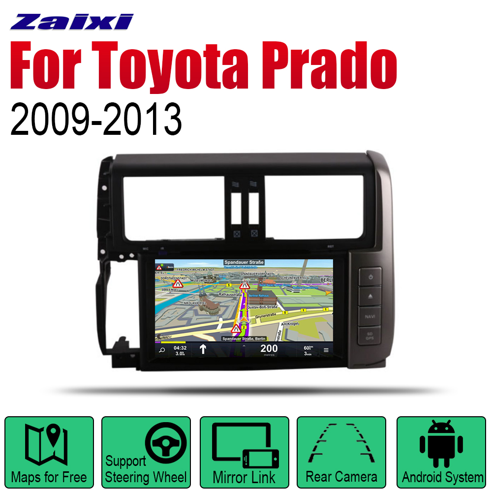 Android <font><b>2</b></font> <font><b>Din</b></font> Auto <font><b>Radio</b></font> DVD <font><b>For</b></font> <font><b>Toyota</b></font> Land Cruiser <font><b>Prado</b></font> <font><b>150</b></font> 2009 <font><b>2010</b></font> 2011 2012 2013 <font><b>Car</b></font> Multimedia Player GPS Navigation image