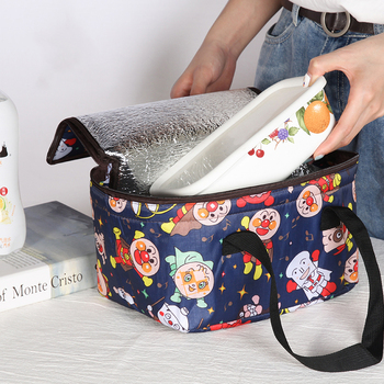 MABULA Cooler Bag Women Tote Handbag Insulated Box Water-resistant Thermal Lunch Bag Soft Liner Lunch Bags for Picnic Oudoors