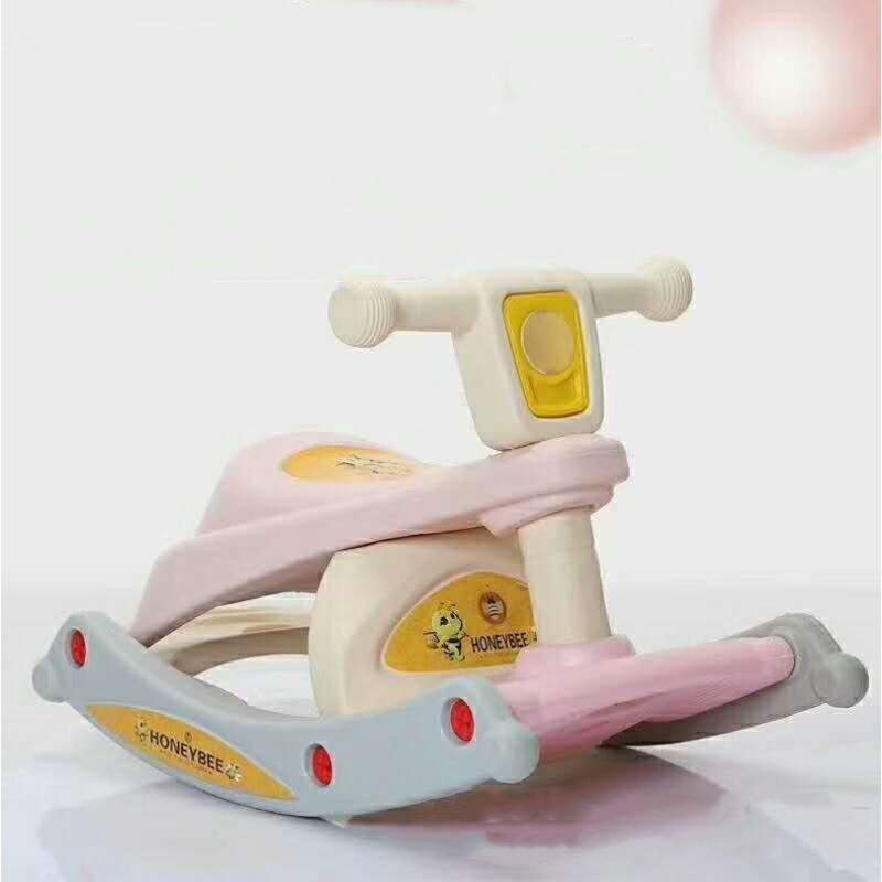 New Children'S Rocking Chair Baby Multifunctional Three-In-One Rocking Horse Kids Toys Cute Baby Dining Chair Bench Top Selling