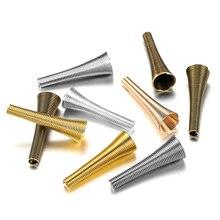 12 Stuks Metalen Lente Trechter Vorm Spacer Kralen Caps Diy Kralen Levert Kegel Lente Coil End Caps Voor Sieraden Makings accessoires