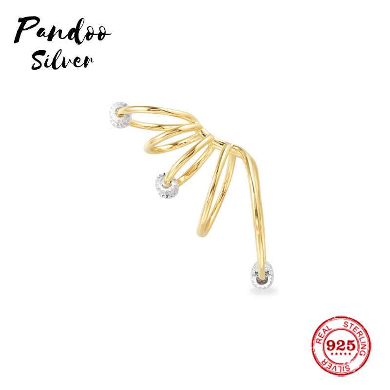 Pandoo אופנה קסם סטרלינג כסף מקורי 1:1 עותק, אחת חמישה חישוקי עגילי עם הזזה טבעות תכשיטי מתנה עבור נקבה