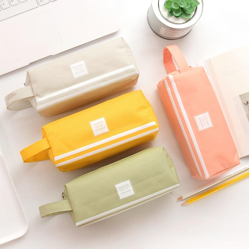 trousse /à crayons en tissu Orange Trousse scolaire