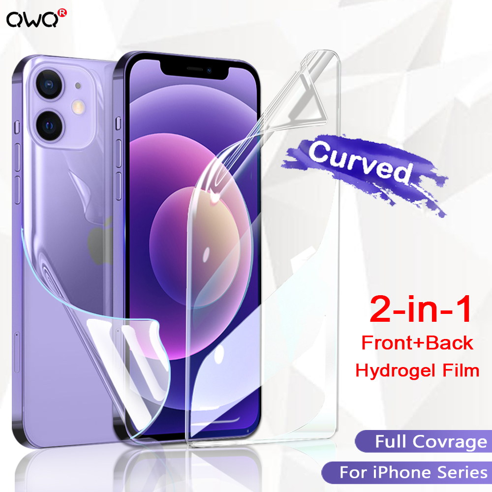 Full Cover Matte Hydrogel Film For iPhone 12 11 Pro Max 6 6s 7 8 Plus SE 2020 Screen Protector For iPhone 12 mini XR X XS Max