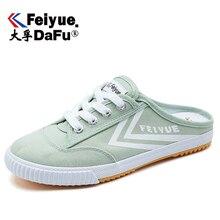 DafuFeiyue 2122 toile chaussures hommes chaussures pour femmes demi pantoufle vulcanisé baskets mode confortable antidérapant chaussures durables