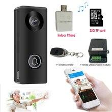 ビデオドア電話ドアベル有線ビデオインターホンモニター 1080 hd カメラロック解除リモート contorl 屋内チャイム yoosee アプリ