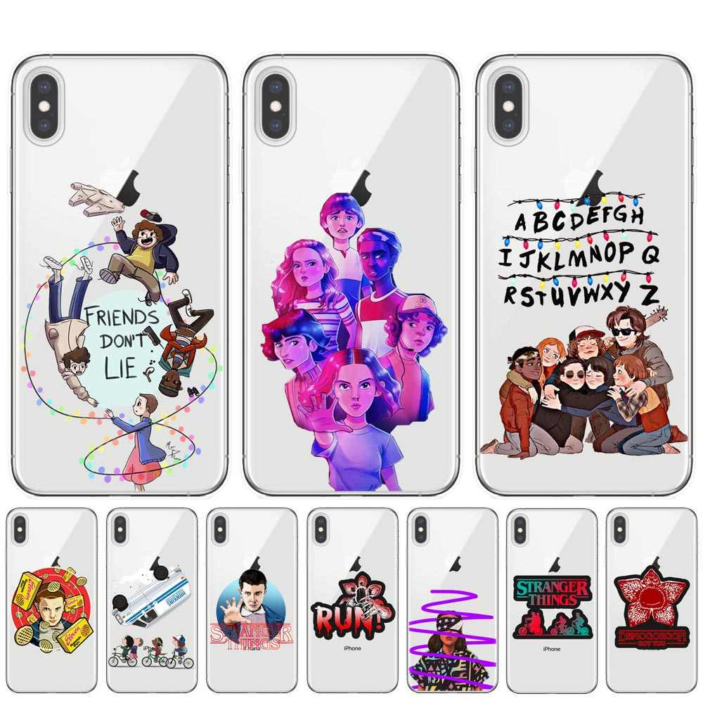 Strange things Hot TV Stranger things poster soft silicone TPU Phone Cover Case For iPhone 11 Pro XS Max X XR 8 7 6 6S Plus 5S E