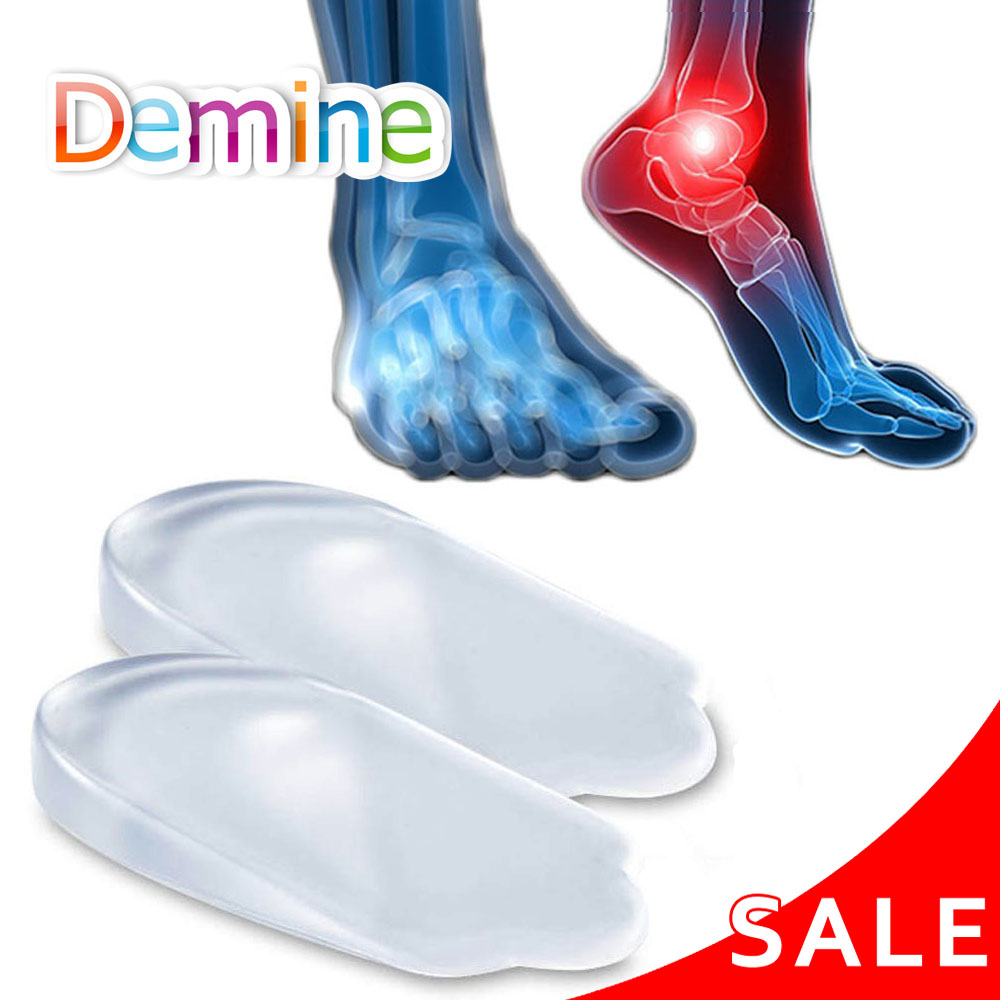 Silicone Gel Insoles Heel Cushion Back Pad For Orthotic O/X Leg Calcaneal Pain Spur Orthopedic Foot Care Heel Cup Shoes Inserts