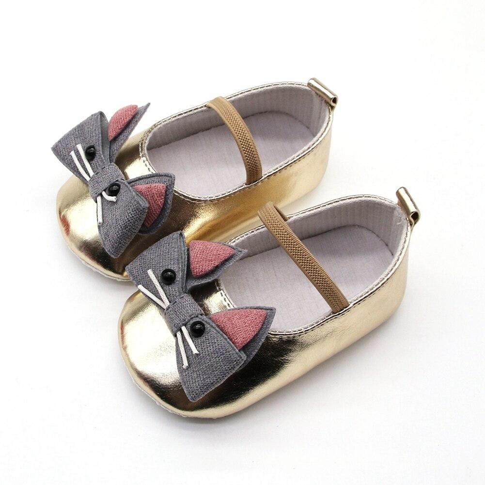 Toddler Newborn Baby Shoes Cartoon Cat Shoes Crib Bebe Girls Princess Ballet Soft Soled Anti-Slip Footwear