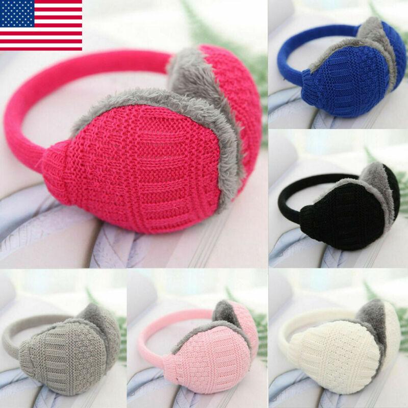 Unisex Winter Warm Knitted Earmuffs Ear Warmers Muffs Women Men Earlap Cover US
