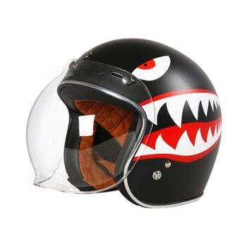 Nuevo TORC T50 Vintage Moto rcycle jet casco cara abierta 3/4 retro medio casco moto capacete casque moto Cruz