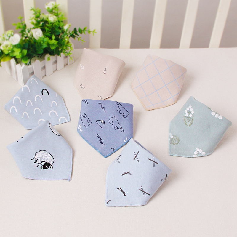 5pc 44*31cm Baby Bibs Scarf  Baby Stuff for Girl Infant  Baby Feeding Bibs Banada Towel for Kids Children's Products