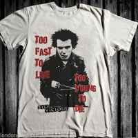 Sid Vicious Punk Rock T-shirt, sex pistols, british rock, drugs, Brooklyn, punk