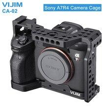 Jaula de cámara de aleación de aluminio VIJIM CA 02 para Sony A7R4 Sony A7R iv con soporte de zapata fría Arri orificio de posicionamiento 1/4 rosca de 3/8